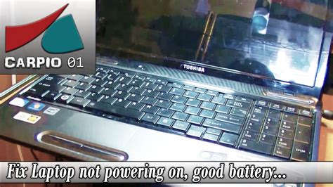how to fix laptop not powering on battery power doovi