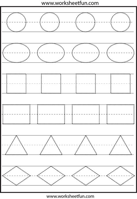 free printable kindergarten tracing worksheets tracing shapes this is not the right image the ones on