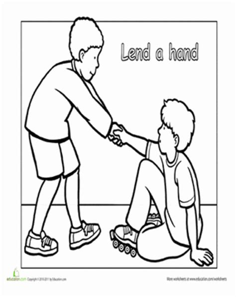 helping others in need worksheet education com