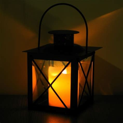 realistic dancing flame led candle lantern