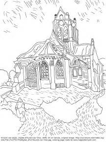 gogh coloring book happy family original and coloring pages