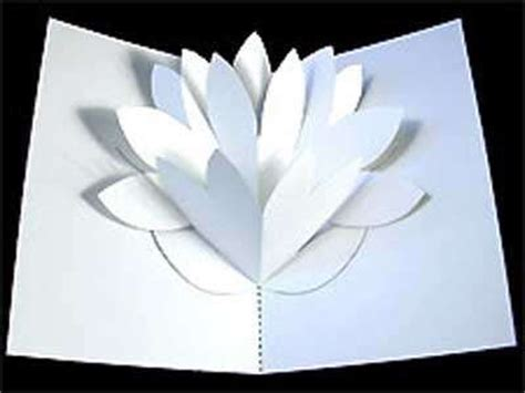 lotus flower pop up card template free diy flower pop up card 4 s day pepakura corner