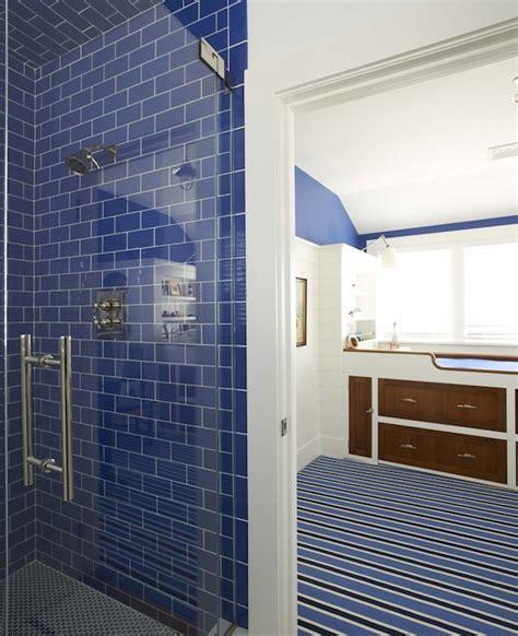 blue subway tile bathroom blue subway tiles cottage bathroom lynn morgan design