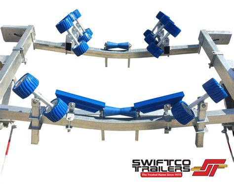 boat trailer drive on guides swiftco 5 metre boat tralier roller type