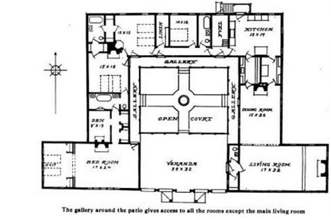 house plans with courtyard in middle spanish mission style courtyard home books worth