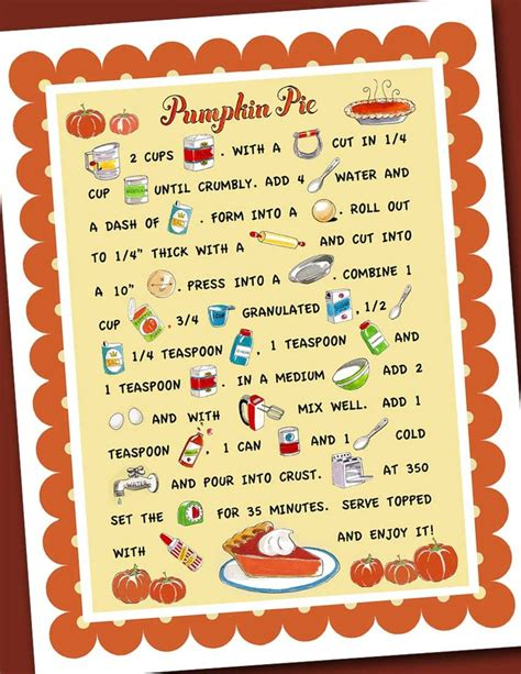 printable pumpkin recipes 7 best images of printable pumpkin pie recipe printable