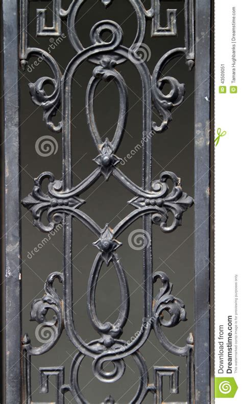 Architectural Building Plans by Decorative Wrought Iron Fence Detail Stock Image Image