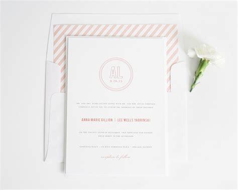 Chic Wedding Invitations by Chic Monogram Wedding Invitations Wedding Invitations By
