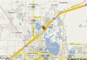 map of quality inn suites lakeland