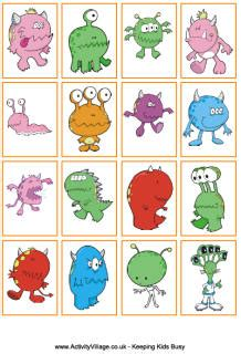 printable animal snap cards monster lacing cards