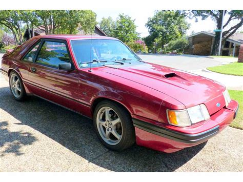 1986 Ford Mustang by 1986 Ford Mustang Svo For Sale Classiccars Cc 1022746