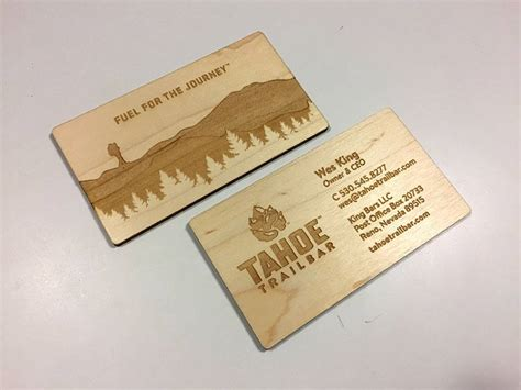 Engraved Business Cards laser engraved business cards on wood metal plastic
