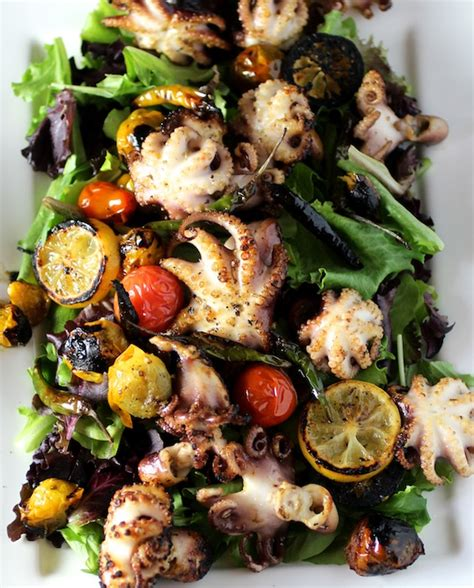 Pasta Salad Recipes With Italian Dressing charred baby octopus salad taste with the eyes