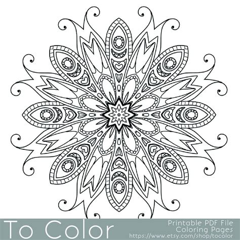 Printable Detailed Pattern Coloring Pages by Detailed Printable Coloring Pages For Adults Gel Pens