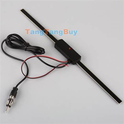 electronic car auto windshield mount self adhesive base tv fm radio antenna 12v ebay
