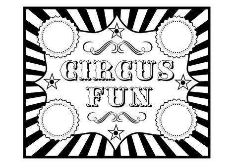 Free Circus Birthday Party Printables From Printabelle Circus Themed Coloring Pages