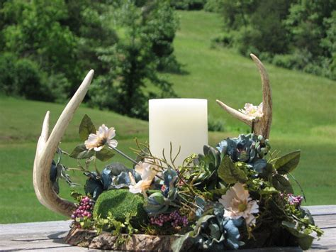 Order Centerpieces deer antler centerpiece made to order rustic flower