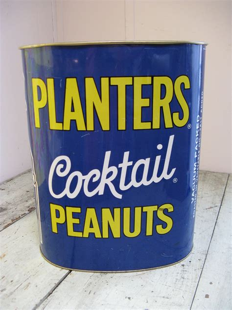 planters cocktail peanuts mr peanut tin trash by