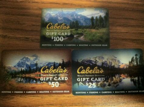 Cabela S Gift Card Value - cabelas cabela s gift cards 25 50 100 10 off