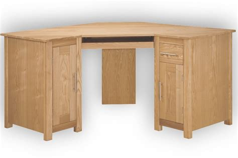 home office ash corner computer desk oak furniture solutions