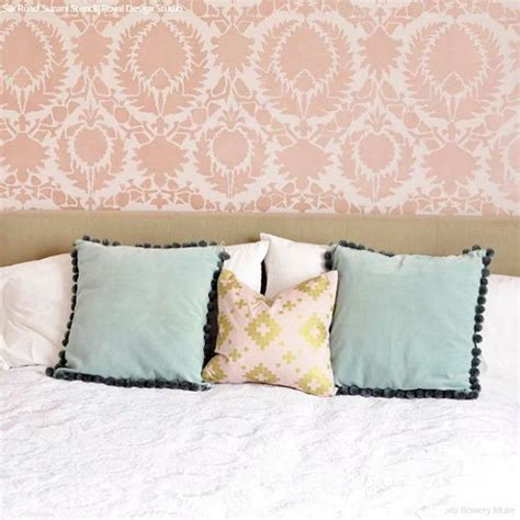 uzbek suzani wall stencil royal design studio stencil your diy decor with painted suzani fabric designs