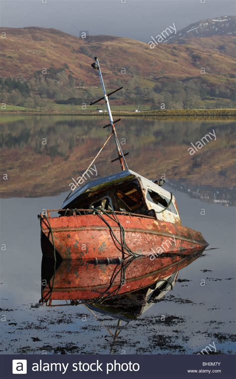 sunken boat sunken fishing boat stock photos sunken fishing boat