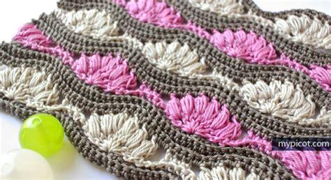 crochet wave ripple pattern stitch knitting bee crochet ripple pattern for afghans yishifashion