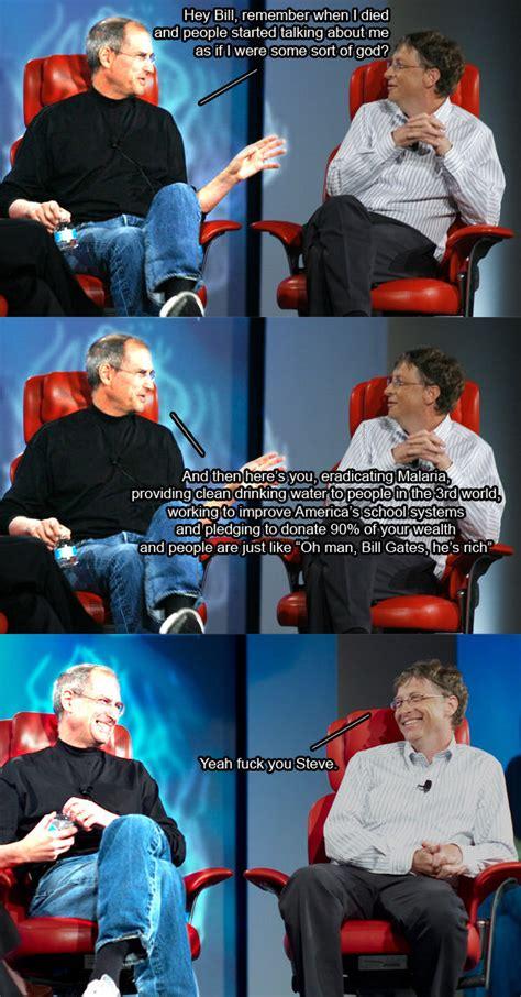 Steve Jobs Bill Gates Meme - bill gates 9wow in