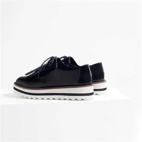Fringed Flats zara fringed flat shoes in black lyst