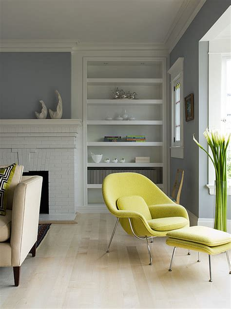 grey and chartreuse living room bringing time colors into your winter home