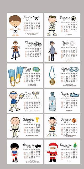 Calendario 2017 Para Calend 225 Rios 2017 Para Imprimir S 211 Escola