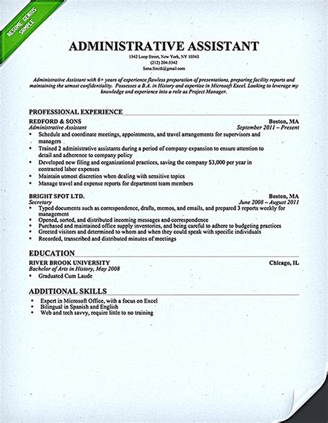 administrative assistant resume should be well noticed if the 25 best administrative assistant resume ideas on