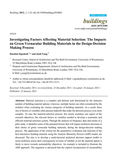 10 key factors affecting selection of a building site investigating factors affecting material pdf download