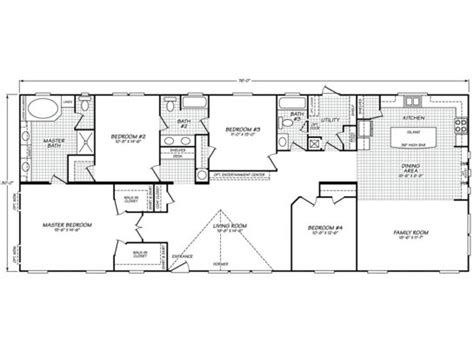 1997 fleetwood mobile home floor plan 28 images