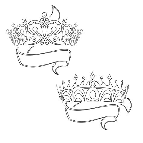 princess tiara tattoos designs the bottom one w brandons name tattoos
