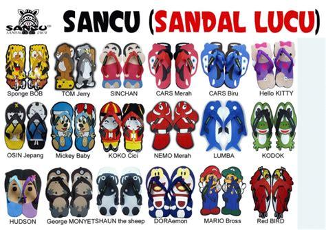 Sandal Sendal Sancu Lucu Jepit Karakter Miki Mickey Mouse jual sancu sandal lucu sandal karakter kartun 1 suksesmulia