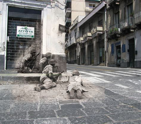 famous scenes then and now ghosts of war wwii photos superimposed on to modern
