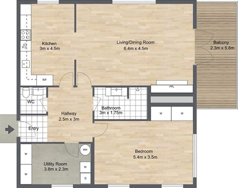 1 bedroom floor plan 1 bedroom floor plans roomsketcher