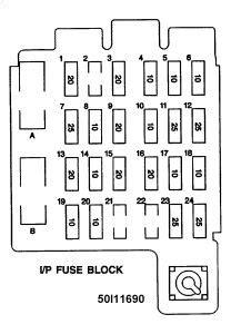 1989 Chevy Silverado 1500 Bulkhead Fuse Block Pin Wiring