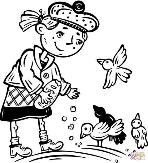 feeding ducks coloring page latest coloriages apparentes with coloriage fille