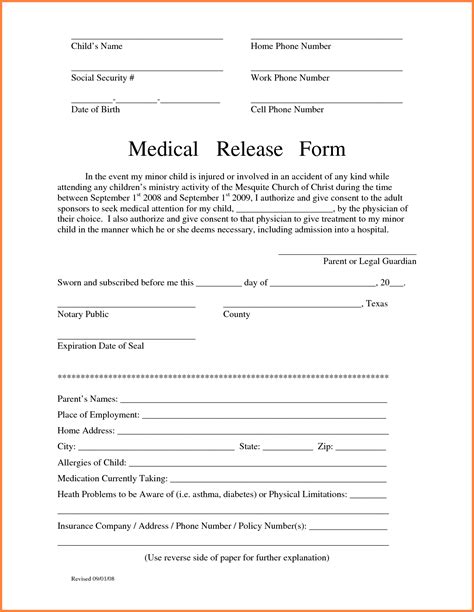 photo release form template for children 7 release form for children sales report template