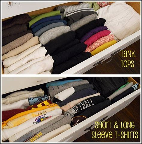 How To Fold T Shirts For Drawers diy how to fold and organize t shirts in a drawer