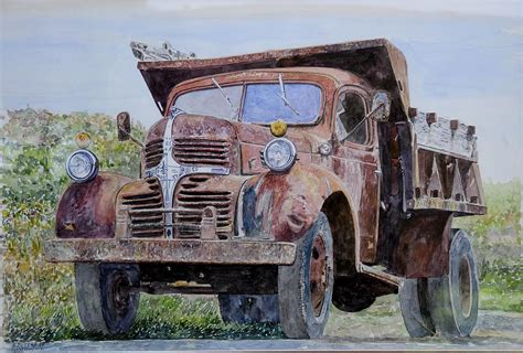 painting trucks farm truck painting by anthony butera