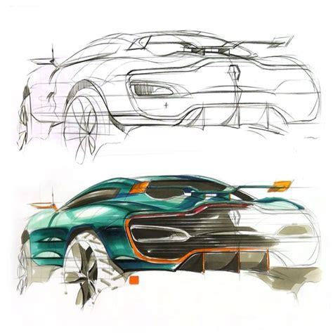 sketchbook car tutorial renault alpine concept sketch video by sangwon seok http