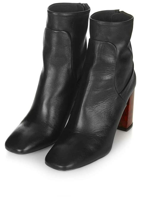 ankle boots with heels master tortoiseshell heel boots topshop