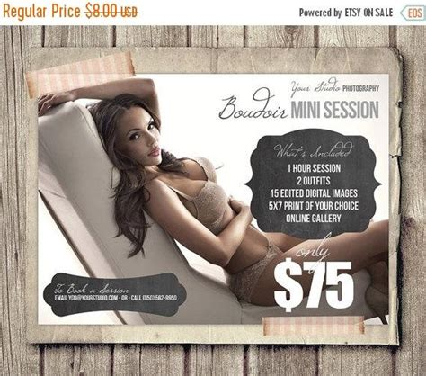 On Sale Boudoir Photo Session Template For By Fotoluxe On Etsy Boudoir Photography Marketing Templates