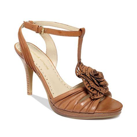 adrienne vittadini sandals lyst adrienne vittadini chrysalis mid heel city sandals