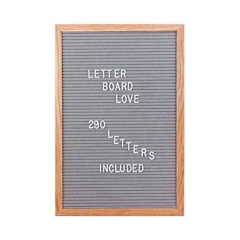 Letter Board 12 215 18 Felt Letter Board Oak Frame Gray Felt Letter Board