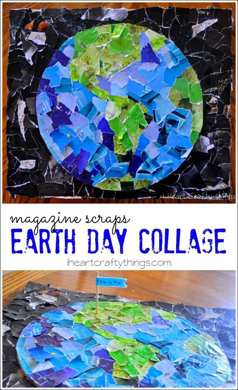 collage crafts for earth day collage earth collage and craft