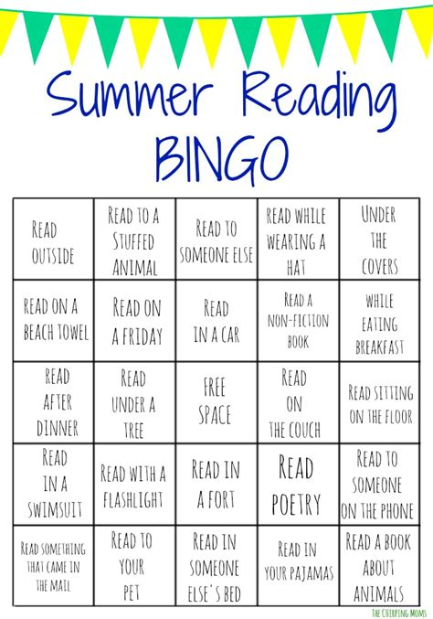 printable games for reading summer reading bingo challenge for kids free printables